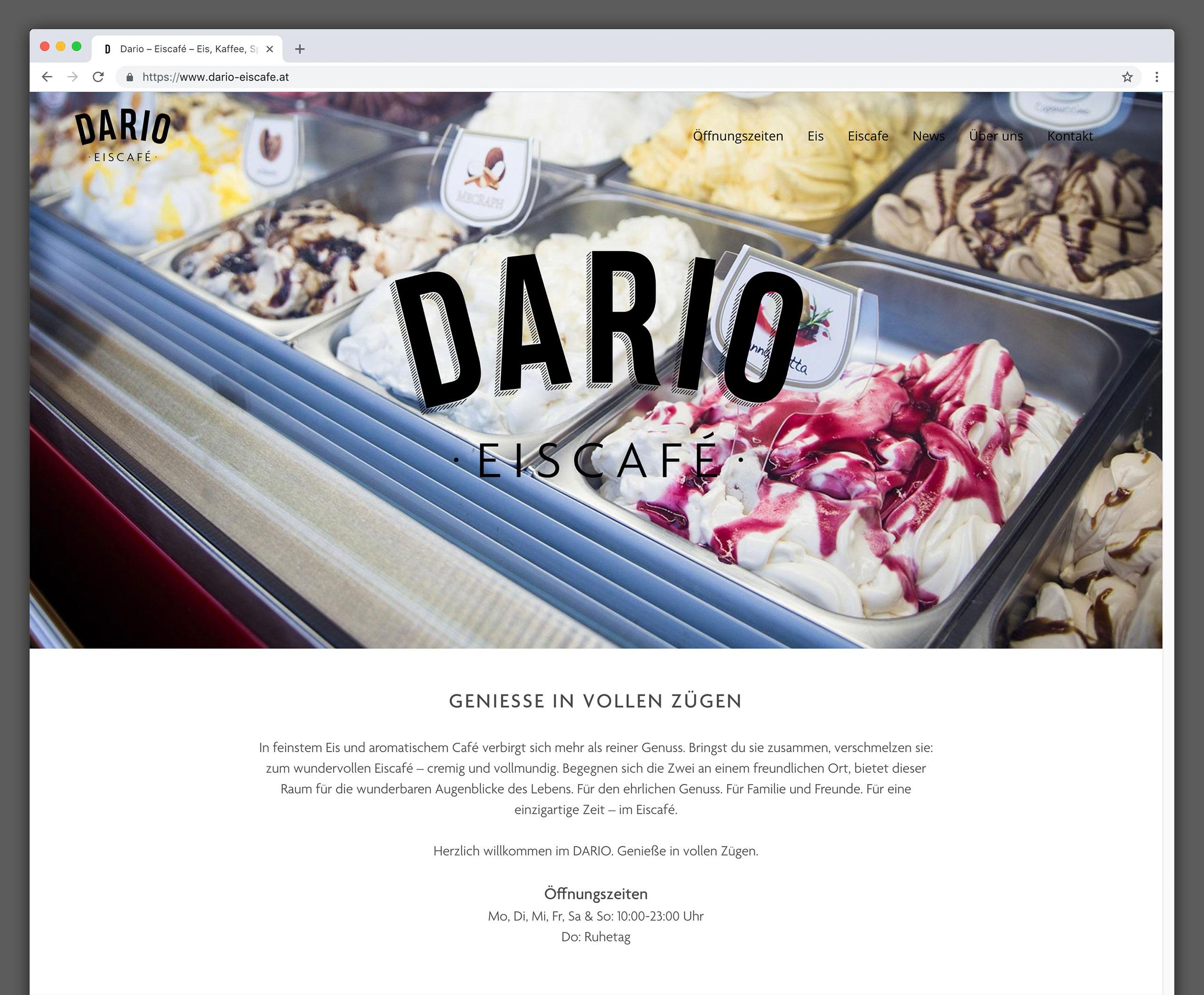 Dario Eiscafé – Onepager 01