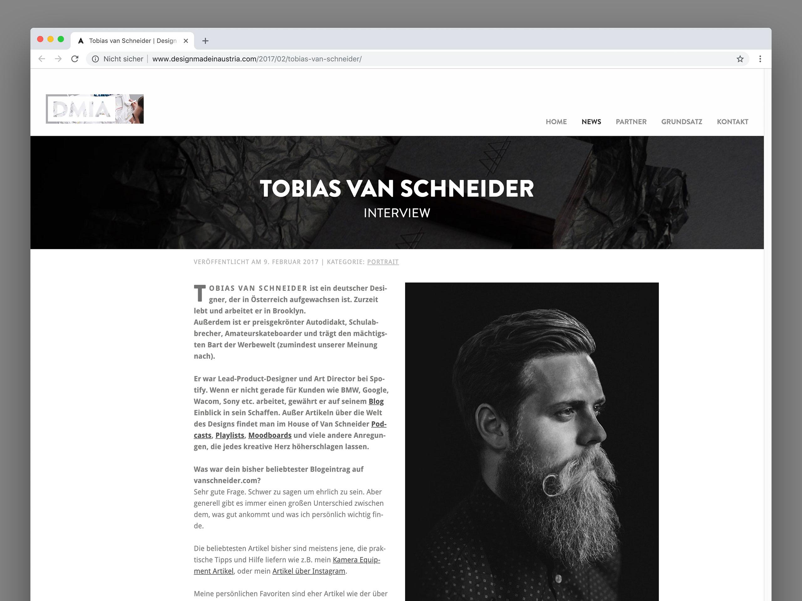Tobias van Schneider Interview