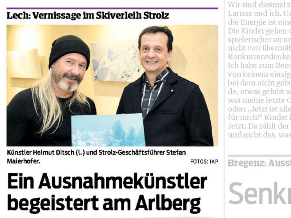 Helmut Ditsch – Zeitungsbericht – Ausstellung Strolz