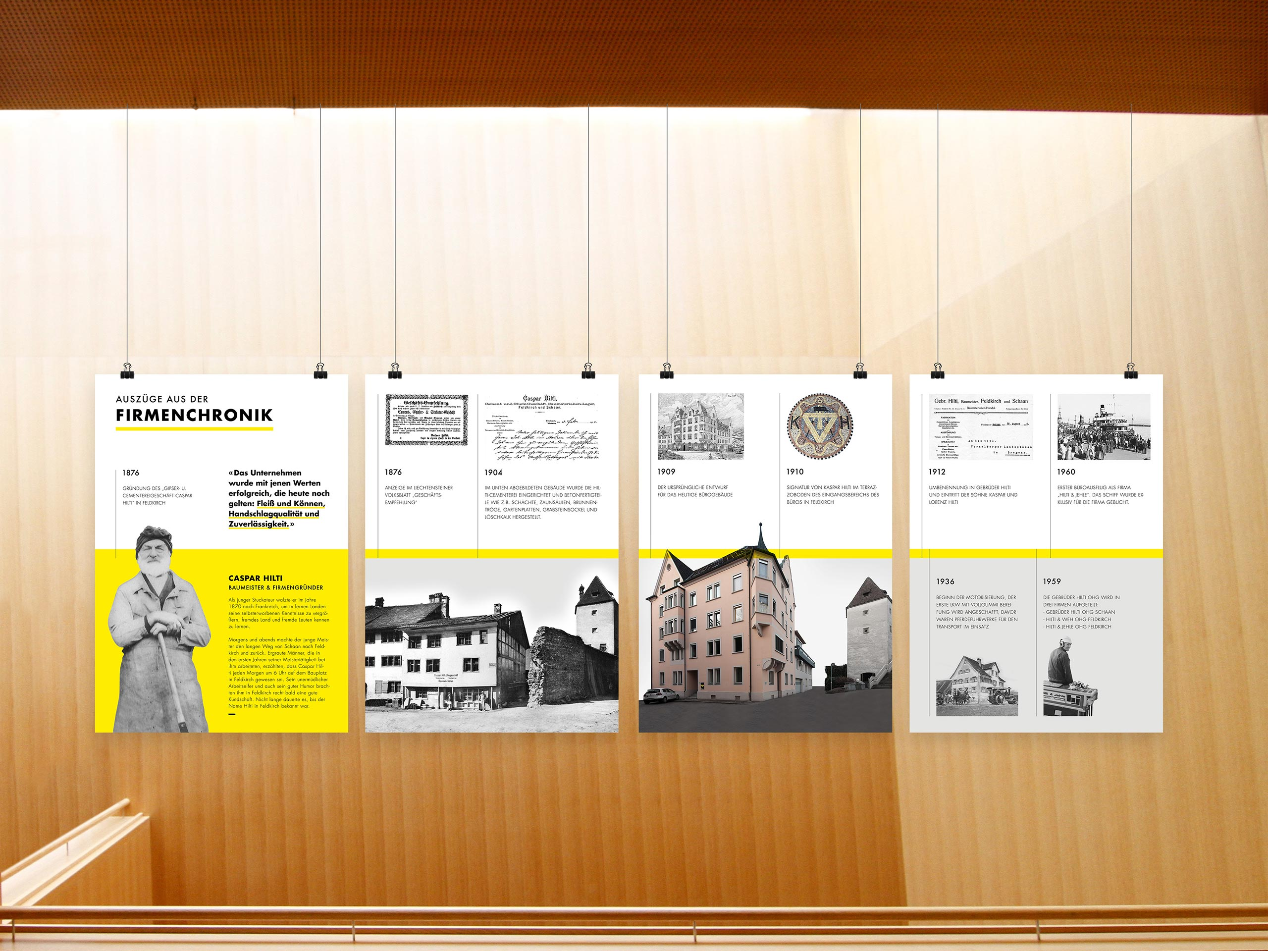 Hilti & Jehle – Plakatreihe – Firmenchronik