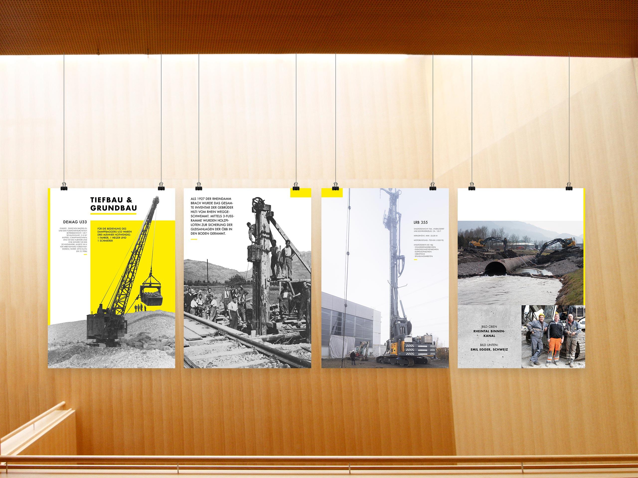 Hilti & Jehle – Plakatreihe – Tiefbau & Grundbau