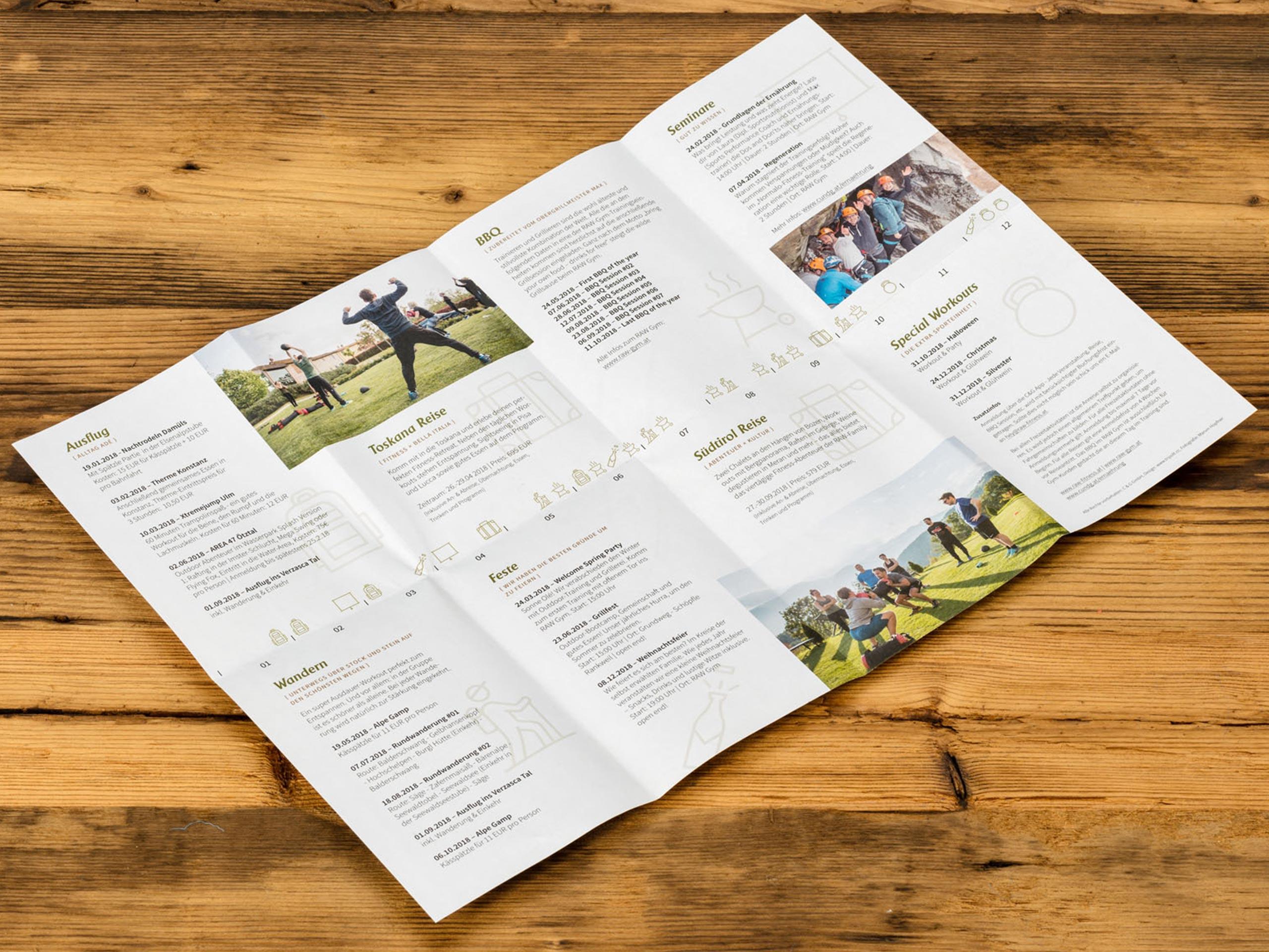 RAW Fitness – Broschüre
