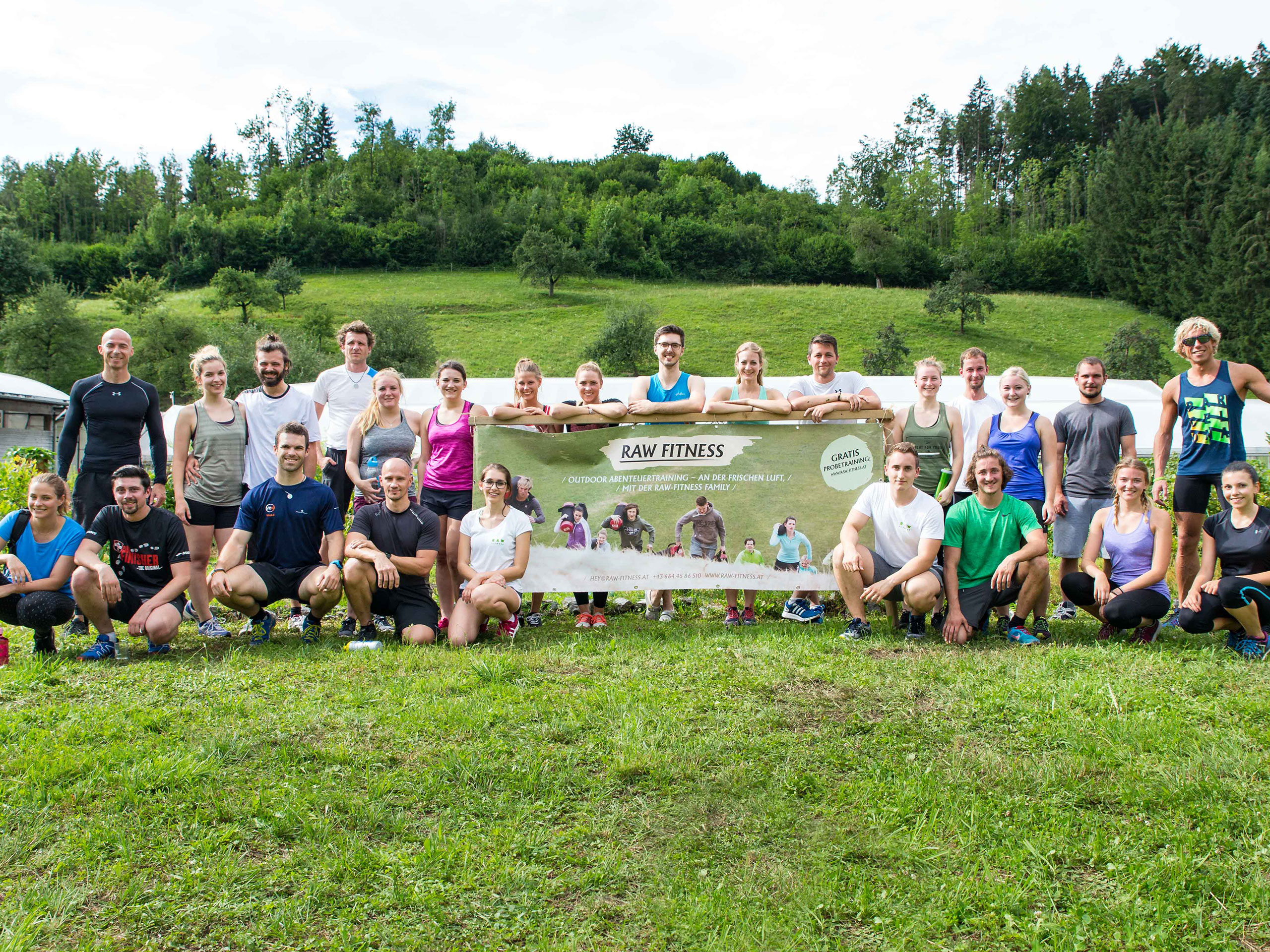 RAW Fitness – Charity-Bootcamp Gruppenfoto