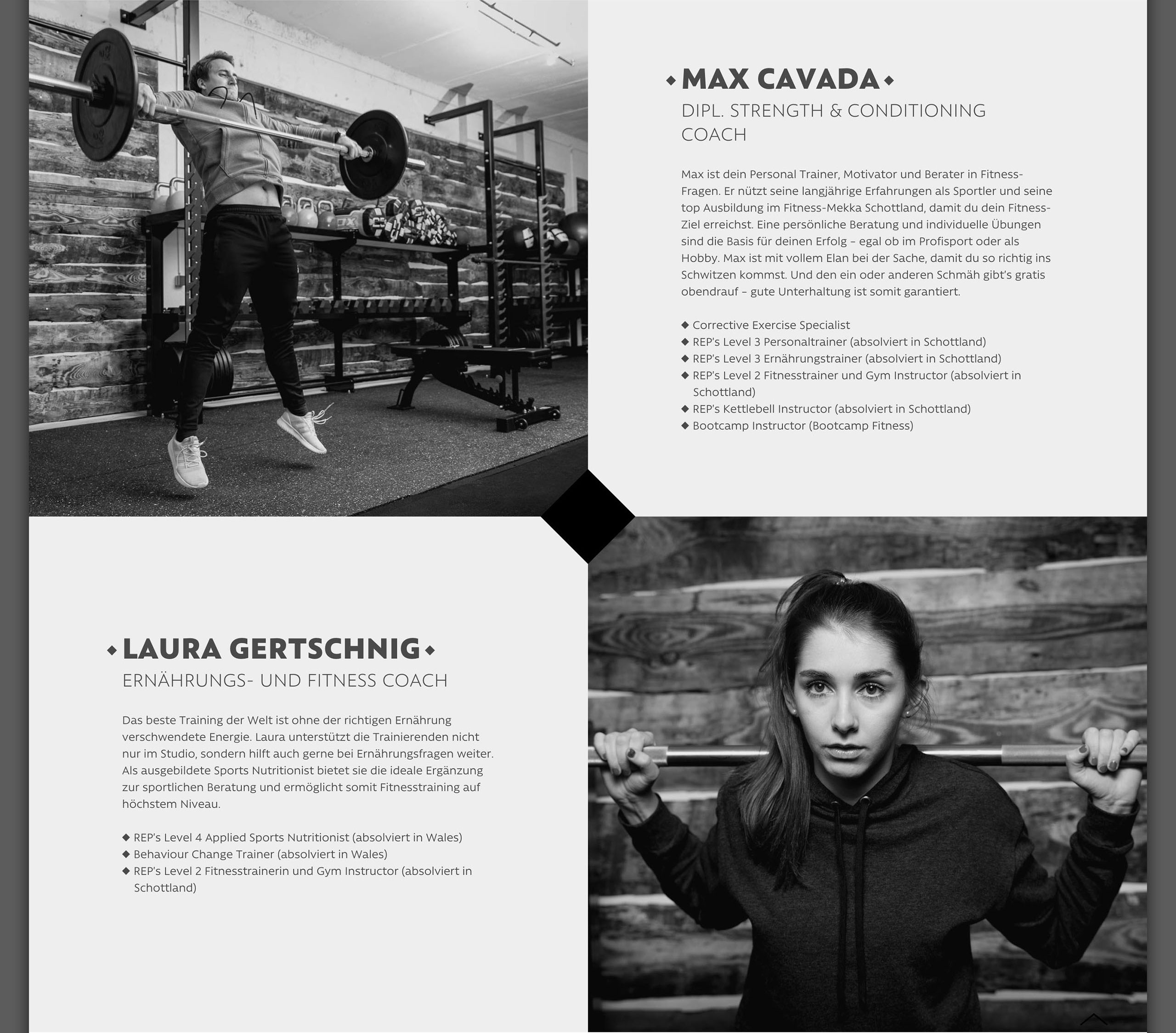 RAW Gym – Website – Showcase
