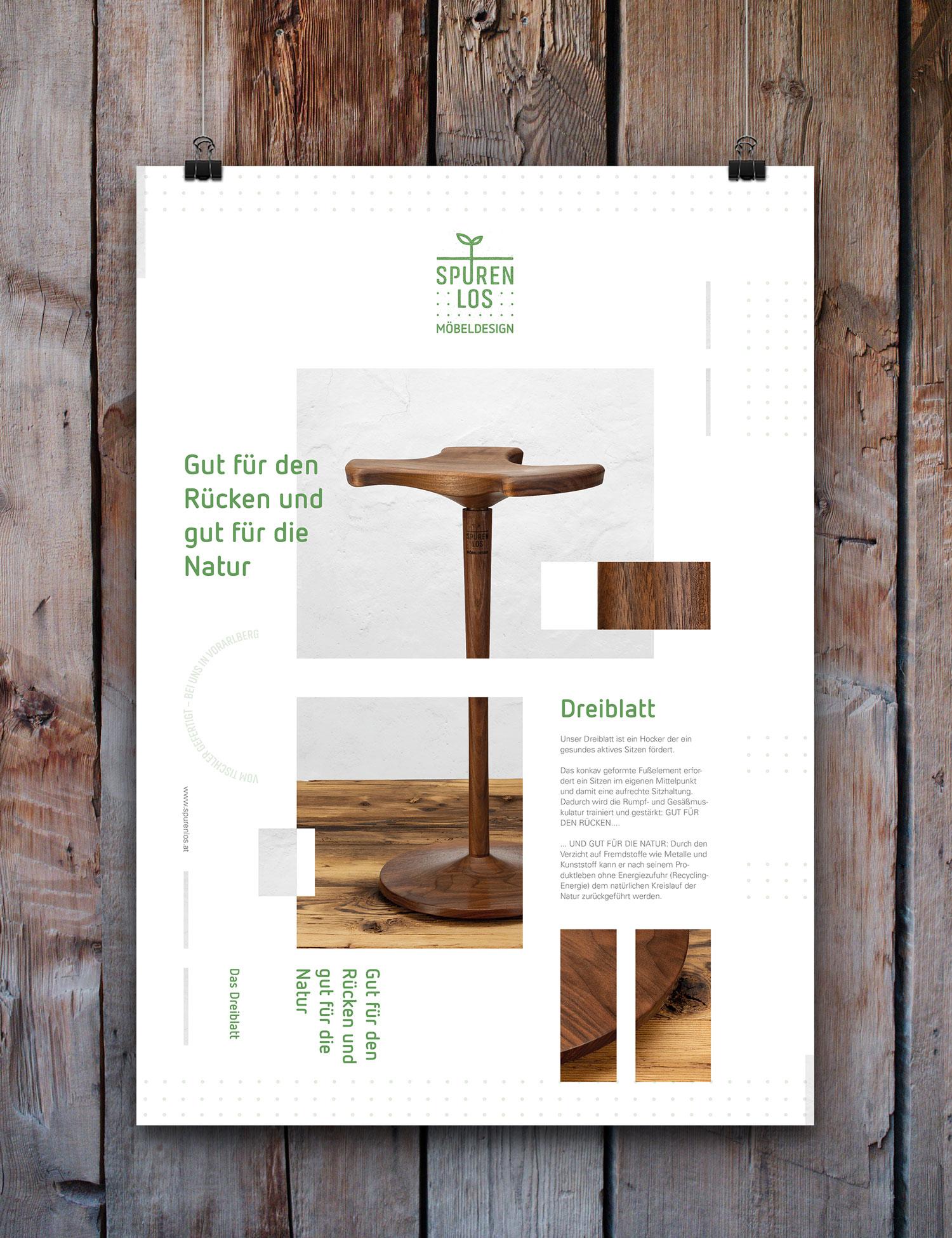 Spurenlos Möbeldesign – Poster Vorderseite