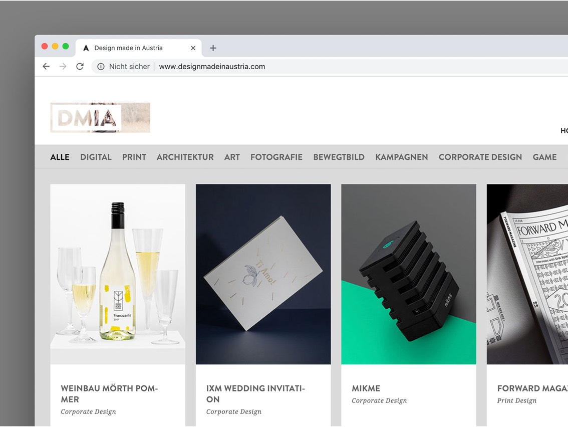 Design made in Austria Website